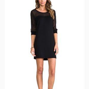 Splendid mesh long sleeve dress